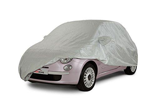 Cover Zone Imperméable Convient pour Toutes Les Saisons Adapté Voyager Bâche de Voitures Extérieur Intérieur pour s'adapter Fiat 500 Hatchback 2007-On CCC313_FRE8
