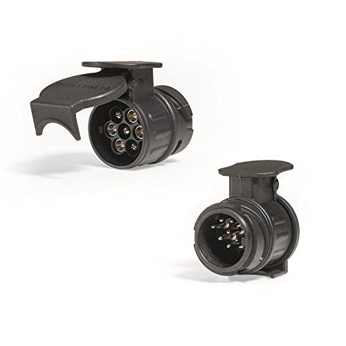 Westfalia Adapter 13- auf 7-polig | für die Verbindung eines PKW bzw. Anhängerkupplung mit 13-poligem Stecker auf einen Anhänger mit 7-poligem Stecker | Auto-Steckdose - 12 Volt | wasserdicht | universeller Anhängerstromanschluss | Anhängerkupplung Adapter 13 auf 7 | Adapter für Anhängerkupplung