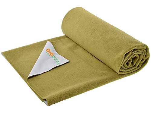 Oyo Baby - Quickly Dry Super Soft, Reusable Mat Underpad Absorbent Sheets Mattress Protector (Size: 70Cm X 50Cm) (28 Inch X 19 Inch)Golden,S  available at amazon for Rs.144