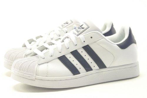 adidas Superstar Ii, Basket mode homme Blanc et bleu marine