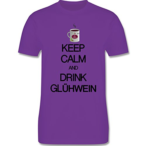 Keep calm - Keep calm and drink Glühwein - Herren Premium T-Shirt Lila