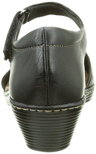 Clarks - Wendy Laurel, Scarpe col tacco con cinturino a T Donna Nero (Black Leather)