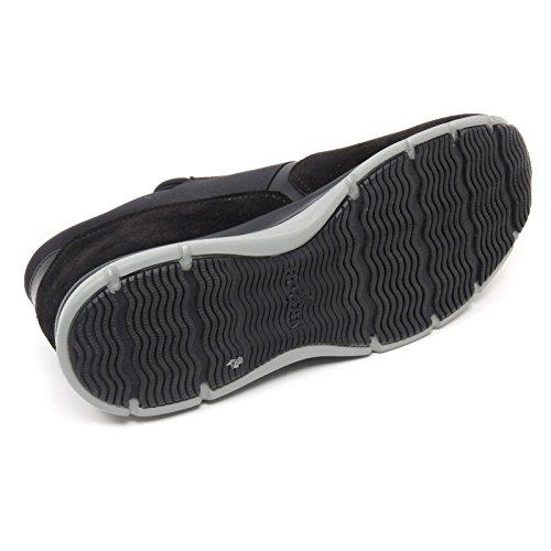 B8510 sneaker uomo HOGAN H254 T2015 scarpa H gommata nero shoe slip on man Nero