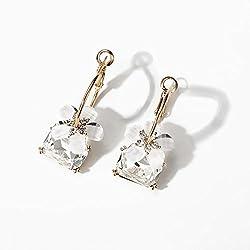 Pendientes Daisy Flower, Temperament Sweet Diamond Earrings para Mujeres