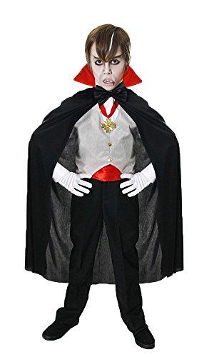 Dracula Vampir-Kostüm für Kinder - Halloween-Kostüm - Größe M (Dracula Kinder Kostüme)