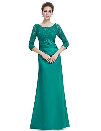 Ever Pretty Robe de Soiree Longue Elegante en col rond 09882 Vert - Vert pâle