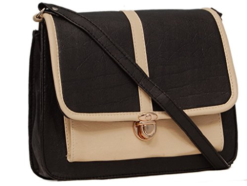 Borse A23 Black and Beige Sling Bag