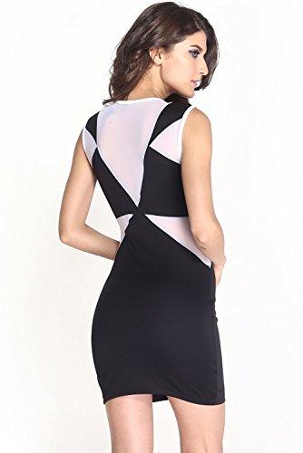 Dissa® femme Blanc SY21077-1 robe de cocktail Noir