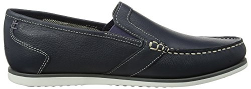 Hush Puppies Jay Portland, Mocassini Uomo Blu (Navy)