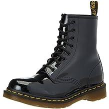 Dr. Martens 1460 Patent BLACK - Botas militares, color: Negro