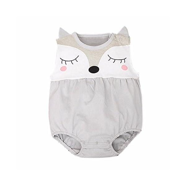 Amlaiworld Mono Bebé, Niños Niñas Recién Nacido del bebé de Zorro Mono Trajes 0-24 Mes 2