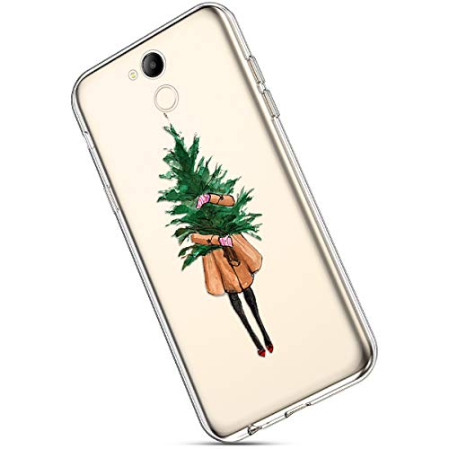 Ukayfe Case for Huawei Honor V9 Play, Christmas Case Transparent TPU Case  Flexible Ultra Thin Silicone with Christmas Tree Santa Claus Snowflake Deer