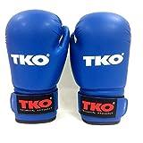 TKO Boxing Gloves Leather Blue 16 oz