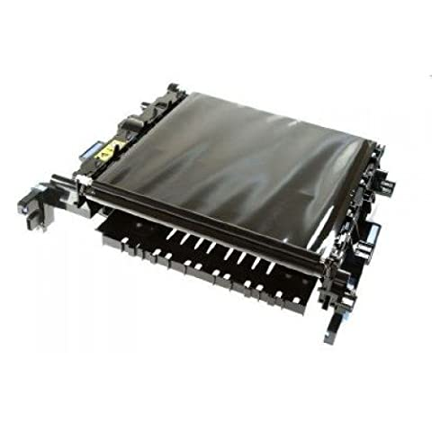 Electrostatic Tranfer Belt (ETB) assembly - Includes the assembly structure; ETB belt; drive roller and drive motor (M5) - Wide belt assembly which feeds the paper past each toner cartridge - Duplex model only