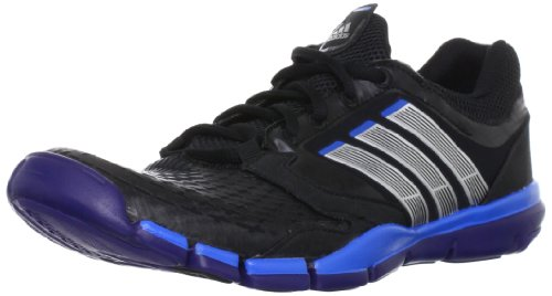 ADIDAS ADIPURE TRAINER 360 RUNNING SHOE - 6 UK (BLACK/METALLIC SILVER/PRIDE BLUE)