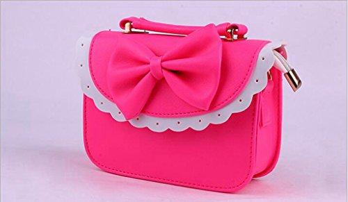 borse alla moda, coreano arco merletto in piccola borsa a tracolla, borsa delle signore, Mini Messenger Bag rose Red