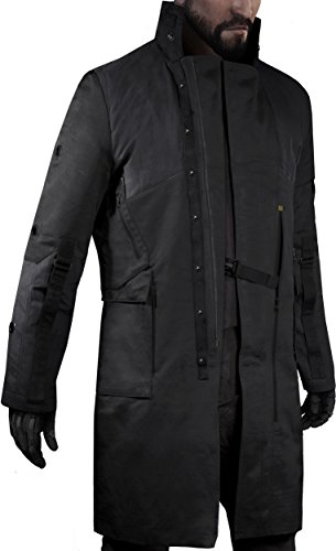 Musterbrand-Deus-Ex-Trench-Coat-Herren-Jensen-V40-Limited-Edition-Jacke-Schwarz