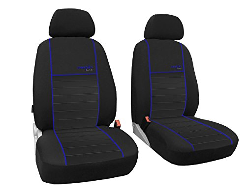 Preisvergleich Produktbild Vordersitzbezüge 1+1, Sitzbezüge passend für Caddy - DESIGN TREND-LINE. In diesem Angebot Blau.