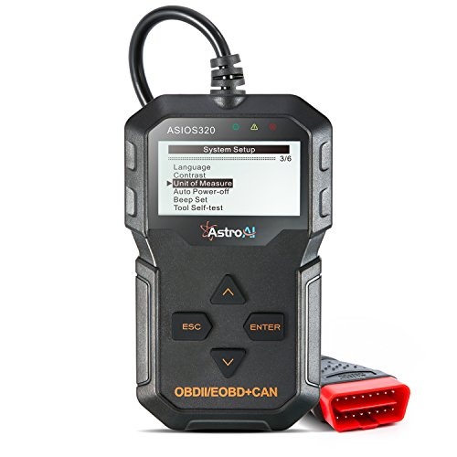 AstroAI OBD2 Diagnostique Voiture, Valise Diagnostic Multimarque, Lecteur de Code de Défaut Scanner, Outil de Diagnostic Auto pour Tester les Systèmes de Moteur avec Étui de Transport Cadeau Homme