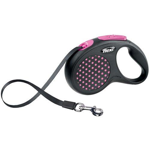 flexi . Roll-Leine Design, Gurt 5 m für Hunde bis Maximal 15 kg , S, pink