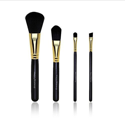 Lolittas 4X Pro Pinceaux De Maquillage Set Foundation Poudre Poudre Fard à PaupièRes Pinceau Trop