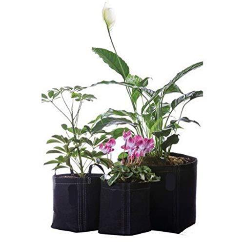 Crasy Shop 3/5/7/10/20 Gallonen Pflanzsack Pflanze Wachsende Tasche Vliesstoff Pflanzsack Umweltverträgliche Pflanzentasche (5 pcs)