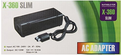 Gen AC Adapter Power Supply Cord for Xbox 360 Slim by GEN