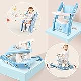 Bamny Schaukelpferd Kinderstuhl, multifunktionelles Schaukelmotorrad mit Musik und Beleuchtung, Geschenk für Babys und Kinder 1-3