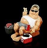 Drôles le Mode de Vie Du Père Noël Figurine - Camper avec Grille et Bière Drôle Figurine Décorative, Peint à la Main