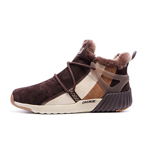 ONEMIX Homme Femme Hiver Bottines Bottes de Neige Imperméable Boots Chaudes Fourrure Chaussures