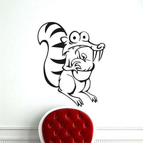 zhuziji Familie Vinyl Wandaufkleber Lotusice Alter Eichhörnchen Cartoon Von Grund auf neu Vinyl PVC Wasserdicht Hintergrund Selbstklebende Kindergarten, Baby Wand, Apartment71X57Cm