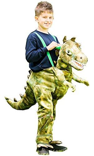 Rex Kostüm Kid T - Generique - Dinosaurier Carry Me Kostüm für Kinder grün 98/104 (3-4 Jahre)