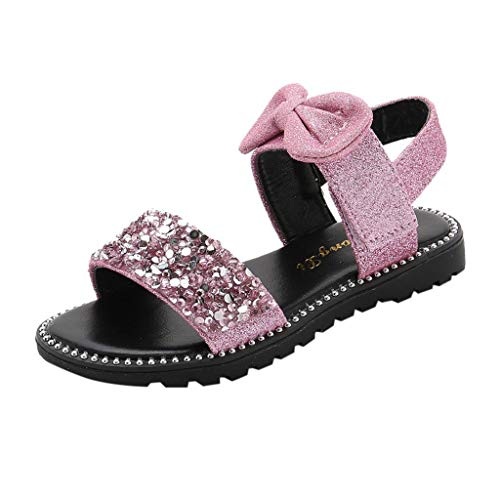 Schuhe Baby Mädchen Sandalen Offene Sandalen niedlichen Glitter Pailletten Sandalen mit Bowknot Prinzessin Schuhe Sandalen
