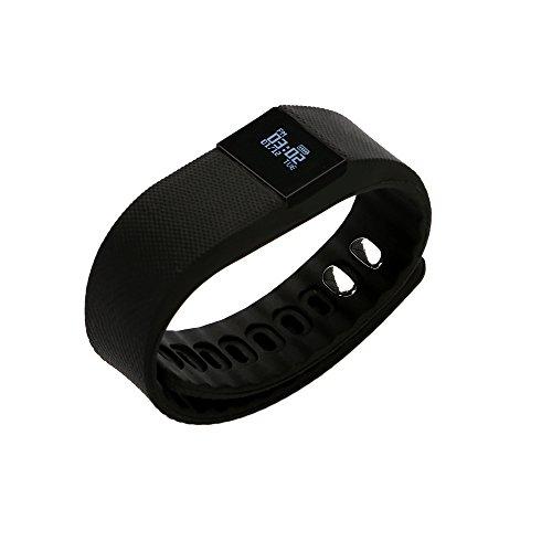 Bluetooth Sport Bracciale, OSAN Bluetooth Smart Bracciale Sports Fitness Braccialetto Banda Polso Orologio Tracker Impermeabile Nero