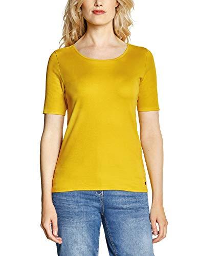 Gelbe Damen-shirt (CECIL Damen 311780 Lena T-Shirt, Gelb (Ceylon Yellow 11892), X-Large (Herstellergröße:XL))