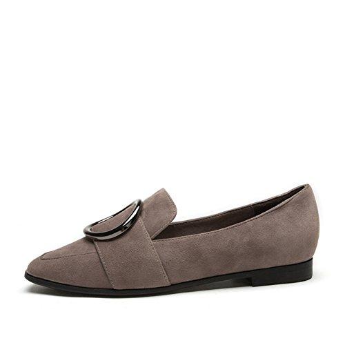 Asakuchi Shoes Ms,Boucle Ronde De Fond Plate Un Pied Ensemble Chaussures De Loisirs B