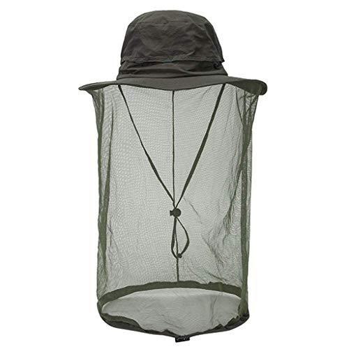 Challenge Mosquito Head Net Hat con ProteccióN De Malla Oculta Insectos Abejas...