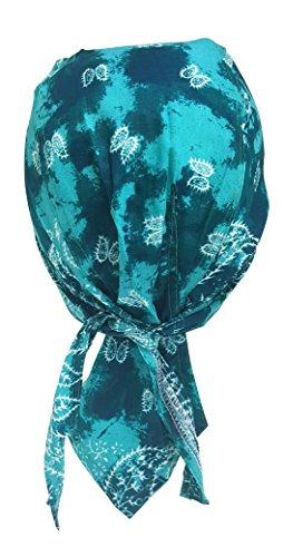 Preisvergleich Produktbild Rocker Bandana Cap - Türkises Batik Paisley