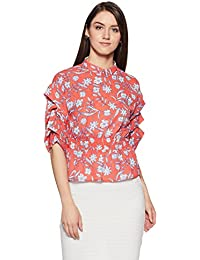Symbol Amazon Brand Women's Floral Loose Fit Top