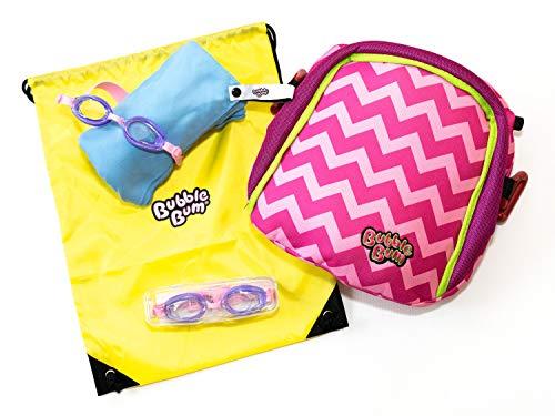 Ultimatives Bündel - BubbleBum, Handtuch, Schwimmbrille, Sonnenbrille und Turnbeutel, Colour:Pink