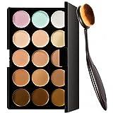 Angelie 15 Colors Contour Face Cream Makeup Concealer Palette + Make up Brush