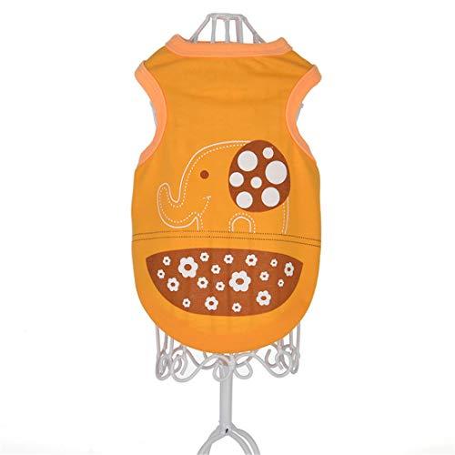 PZSSXDZW Pet Kleidung Frühling und Sommer Neue Cartoonweste Hundebekleidung Pet Kleidung Heimtierbedarf Orange X-Large (Schwarze Das Ist Neue Kostüm Orange)
