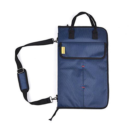 ammoon Drum Sticks Reißverschluss Mallet Bag Fall mit Taschen Schultergurt dunkelblau -