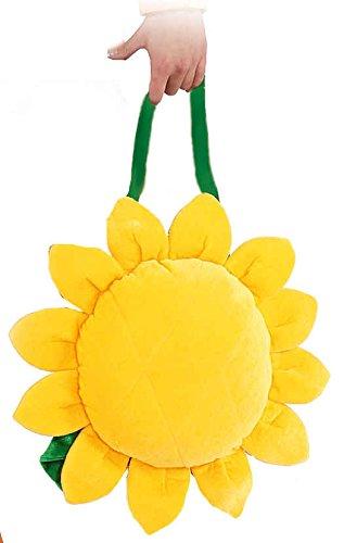 (Orlob Handtasche Sonnenblume Zubehör zum Hippie Kostüm Karneval Fasching)