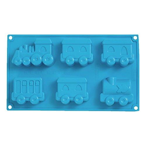 Silikon Backform XXL Zug Eisenbahn Lok 8 Waggons Kindergeburtstag 3D Kuchenform