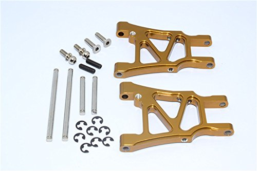 HPI Sprint 2 Tuning Teile Aluminium Rear Arm With Screws & Pins & E-Clips - 1Pr Set Golden Black - Eclip-pin