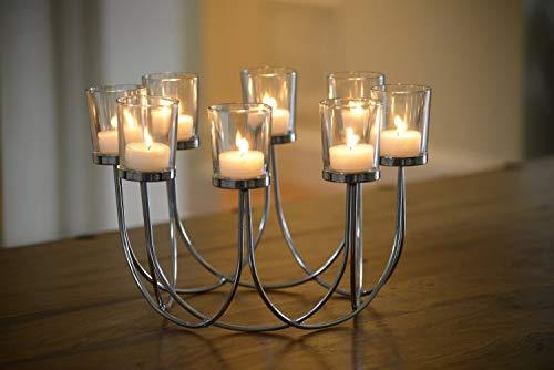 Kerzenständer / Teelichthalter / Tischdekoration / Weihnachtsdekoration, Glas