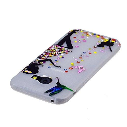 Custodia Galaxy A3 2017 - Cover per Samsung Galaxy A3 2017 - ISAKEN Fashion Agganciabile Luminosa Custodia con LED Lampeggiante PU Pelle Portafoglio Tinta Unita Cover Caso per Samsung A3 2017, Luxury  ragazza gatto