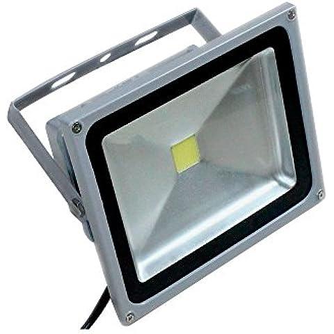 PMS® 10W/20W/30W/50W Blanco Frío Luz Proyector LED Foco proyector, IP65 Impermeable Resistencia (20 Watts)