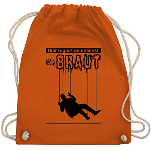 Kostüm Frauen Marionette - JGA Junggesellenabschied - Hier regiert demnächst die Braut - Unisize - Orange - WM110 - Turnbeutel & Gym Bag